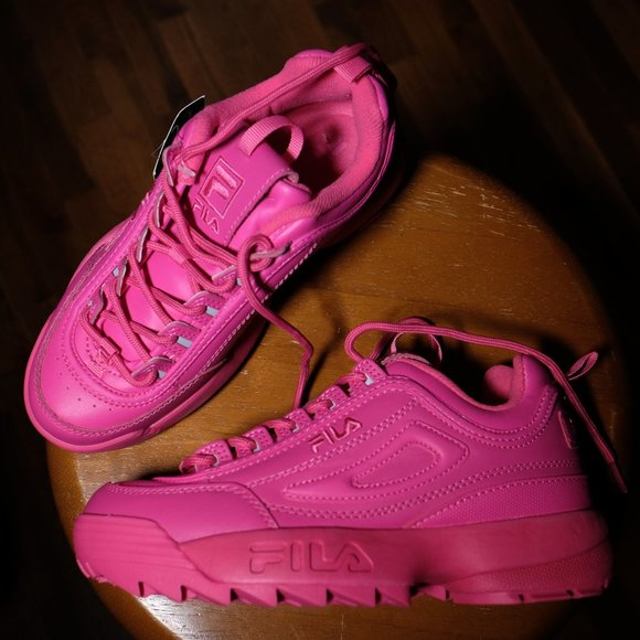 FILA Disrupter Hot Pink Sneakers NWT